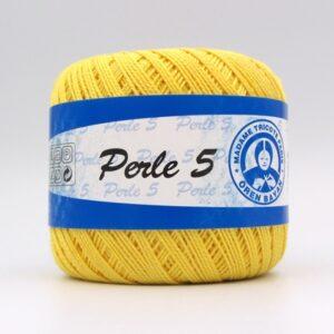 Пряжа Madame Tricote Perle 5 6347 желтый