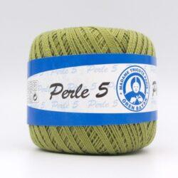 Пряжа Madame Tricote Perle 5 6480 зеленый