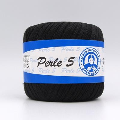 Пряжа Madame Tricote Perle 5 9999 черный