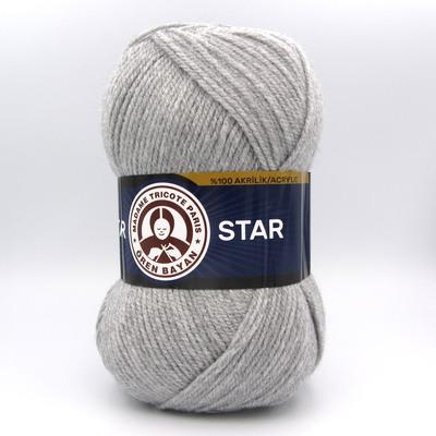 Пряжа Madame Tricote Star 007 светло-серый
