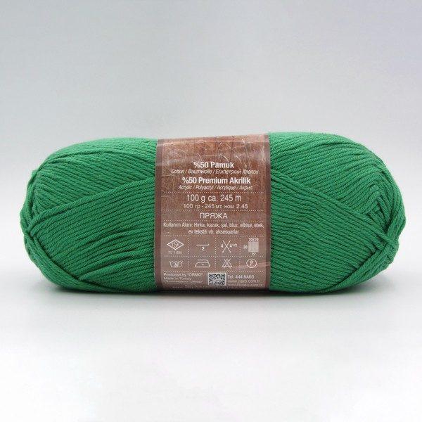 Пряжа Nako Calico 11219 зеленый