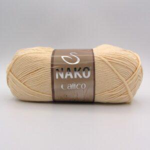 Пряжа Nako Calico 481 молочно-бежевый