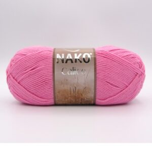Пряжа Nako Calico 6668 розовый