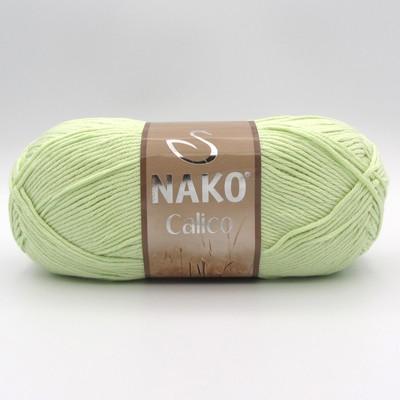 Пряжа Nako Calico 6707 светло-салатовый