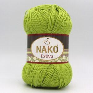 Пряжа Nako Estiva 11544 зеленый