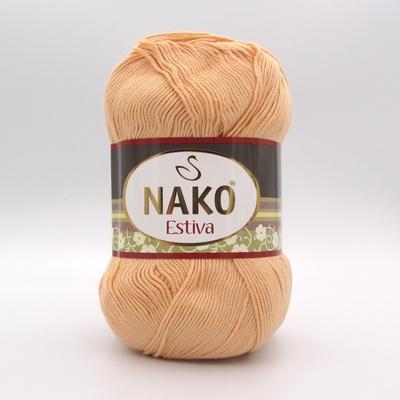 Пряжа Nako Estiva 2866 бледно-абрикосовый
