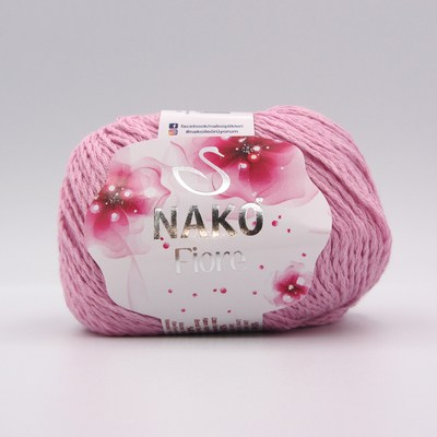 Пряжа Nako Fiore 10411 розовый