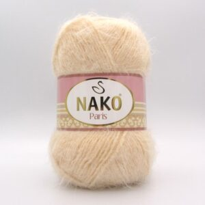 Пряжа Nako Paris 1204 молочно-бежевый