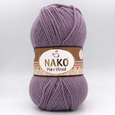 Пряжа Nako Pure Wool 10155 бледно-сиреневый
