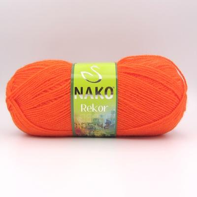 Пряжа Nako Rekor 11255 мандарин