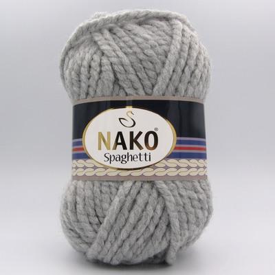 Пряжа Nako Spaghetti 195 серый
