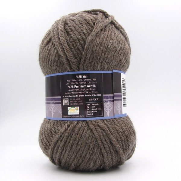 Пряжа Nako Sport Wool 5667 мокко