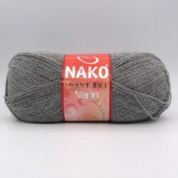 Пряжа Nako Super inci Narin 194 серый
