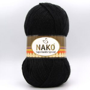 Пряжа Nako Superlambs Special черный 217
