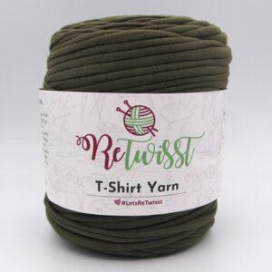 Трикотажная пряжа ReTwisst T-Shirt Yarn зеленый хаки