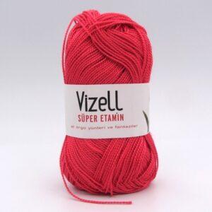 Пряжа Vizell Super Etamin красно-коралловый