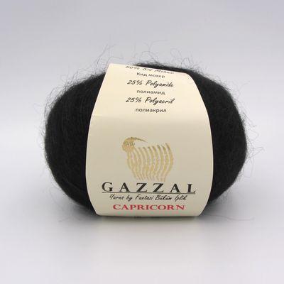 Пряжа Gazzal Capricorn 713 черный