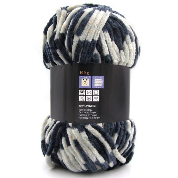 Пряжа плюшевая Himalaya Bursa Chenille серо-синий