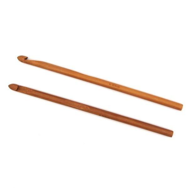 Крючок для вязания бамбуковый без ручки 6.0