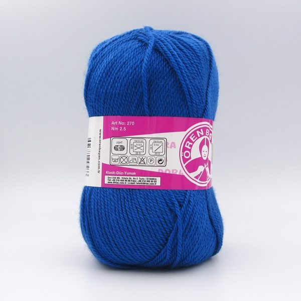 Пряжа Madame Tricote Dora 016 синий