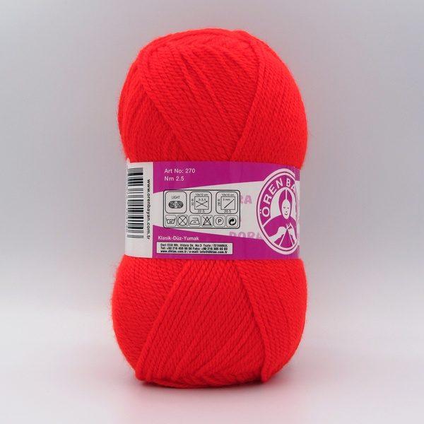 Пряжа Madame Tricote Dora 032 красный алый