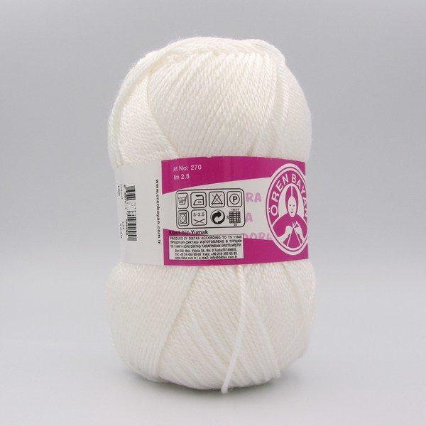 Пряжа Madame Tricote Dora 100 белый