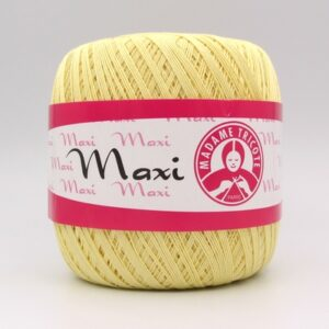 Пряжа Madame Tricote Maxi 6303 светло-желтый5