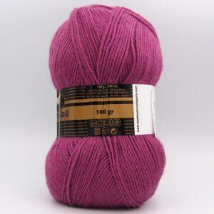 Пряжа Madame Tricote Merino Gold 051 розовая фуксия