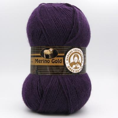 Пряжа Madame Tricote Merino Gold 060 темно-фиолетовый