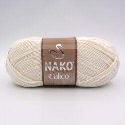 Пряжа Nako Calico 3782 молочный