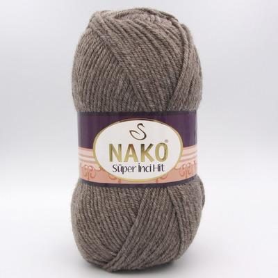 Пряжа Nako Super inci Hit 1367 серо-коричневый