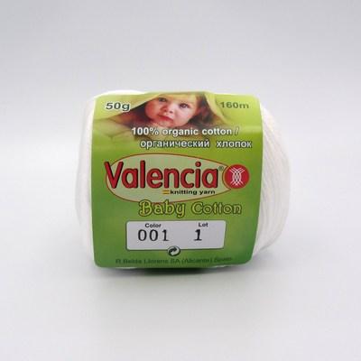 Пряжа Valencia Baby Cotton 001 белый