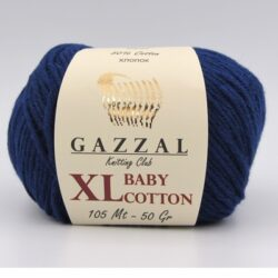 Пряжа Gazzal Baby Cotton XL 3438XL темно-синий