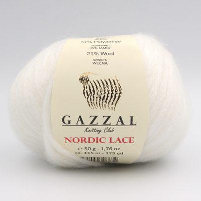 Пряжа Gazzal Nordic Lace 5009 белый