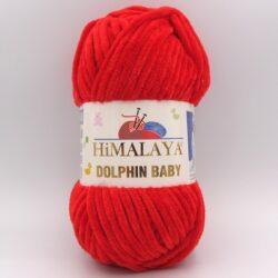 Пряжа плюшевая Himalaya Dolphin Baby красный 80318