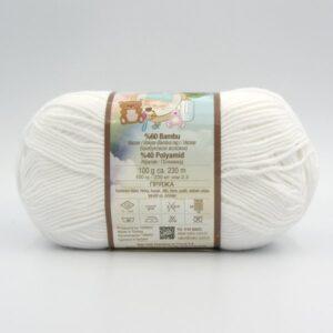 Пряжа Nako Baby Hosgeldin Soft 208 белый