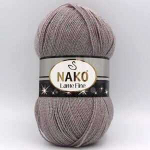 Пряжа Nako Lame Fine 10155 сиренево-серый