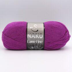 Пряжа Nako Lame Fine 10455 яркая фуксия