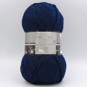 Пряжа Nako Lame Fine 148 темно-синий
