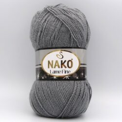 Пряжа Nako Lame Fine 4192 серый