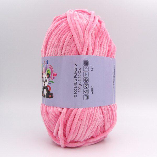 Пряжа Panda Soft Schenille розовый