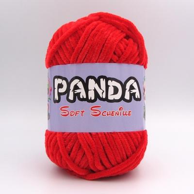 Пряжа Panda Soft Schenille красный