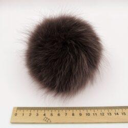 Меховый помпон песец 12-14 см мокко