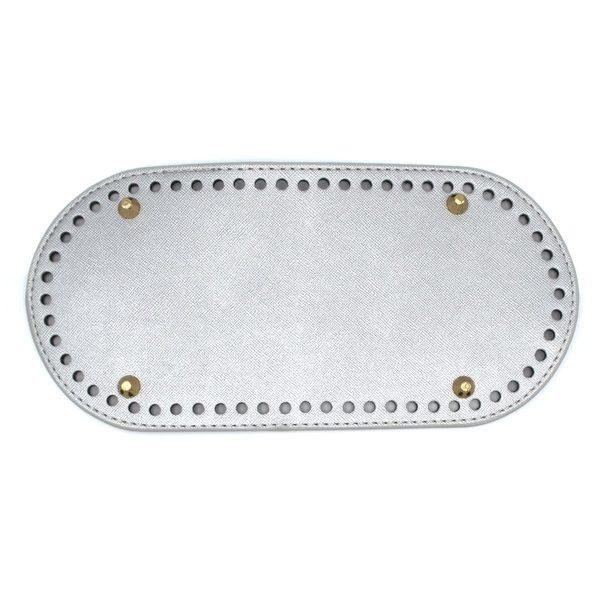 Дно для сумки овальное 25х12 серебро