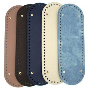 Дно для сумки овальное 30х10 голубой джинс