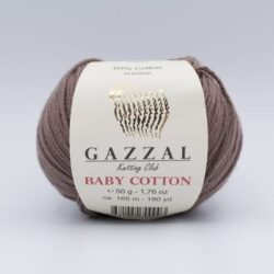 Пряжа Gazzal Baby Cotton мокко 3455