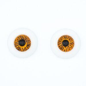 Глазки для кукол и игрушек круглые 16 мм карие пара
