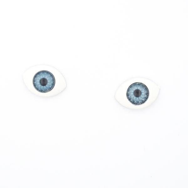 Глазки для кукол и игрушек лодочки 12х8 мм голубые пара