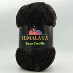 Пряжа плюшевая Himalaya Bursa Chenille черный шоколад