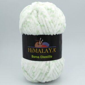 Пряжа плюшевая Himalaya Bursa Chenille мятно-белый